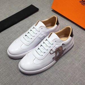 2020 Yeni Lüks TasarımcıMarkaHermesH Sneakers Üst Mischpalette Moda Erkekler Rahat Rahat Düz ayakkabı yüksek ayakkabılar RD 03
