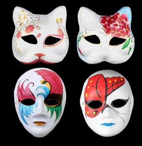 Yaratıcı DIY Çevre Koruma Beyaz Embriyo Graffiti Boyama Pulp El Toptan Cadılar Bayramı Mask çizin Boyama Maske