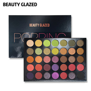Quality Makeup Eyeshadow Palette Beauty Glazed 35 Colors Eyeshadows Long Lasting Highlighter Palette Making Up Pallete Powder Free Ship