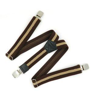 2020 Men Leather 3 Clip Elastic Braces Wedding Shirt Stay Locking Clamps Trousers Suspenders Adjustable Strap Garter Holder Belt