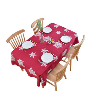 New High Quality Christmas snowflake waterproof tablecloth restaurant hotel Home embroidered tablecloth Confetti Christmas Party Decoration