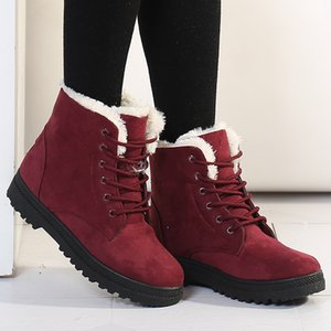 Women Warm Snow 2019 Heels Winter Boots Female Fur Plush Insole Ankle Boots For Women Shoes Winter Warm Botas Mujer