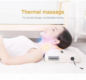Neck Massager Cervical Massager Waist Shoulder Back Electric Multifunction Massage Pillow Household Full Body Massage Cushion