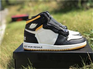 2019 Nova Versão 1 Alta OG NRG Nenhum Ls Sapatos de Basquete Não Para Resalel Vela Varsity Preto Vermelho Tênis De Couro Genuíno Com Caixa 861428-106