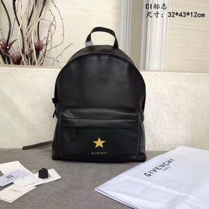 Черный Новый рюкзак с принтом логотипа Верхняя полная кожаная ручка Простой стиль Регулируемый ремешок через плечо off-w1527
