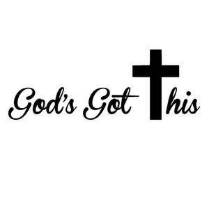Светоотражающий Бог получил этот крест наклейка автомобиля окно стены облом ноутбук лобовое стекло водонепроницаемый автомобиль дверь мотоцикл наклейка Виниловая наклейка