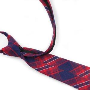 Mens Striped Tie Informal Cotton 7.5cm Width Necktie Men's Fashion Easy To Pull Rope Neckties Designer Handmade Lazy Ties