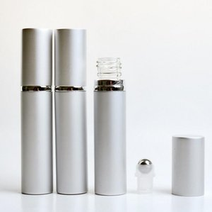8ml Metal Roll On Bottle Refillable Roller Perfume Bottle Aluminum Essential Oil Bottle For Eye Massage Lx1198