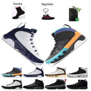 kutuda 9 Antrasit siyah Bakır Heykeli Baron Kömür Johnny Kilroy mavi Erkek Basketbol Ayakkabı Ucuz 9s IX Sneakers 7-13 ile