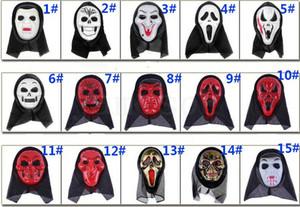 جمجمة هالوين قناع أقنعة أجزاء يصرخ الهيكل العظمي الكريحة الدعائم تنكر قناع الوجه الكامل للرجال النساء قناع مخيف DC859