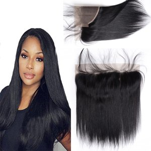 8A Cheap Brazilian Malaysian Peruvian Indian 13 X 4 Lace Frontal Straight Hair with baby hair