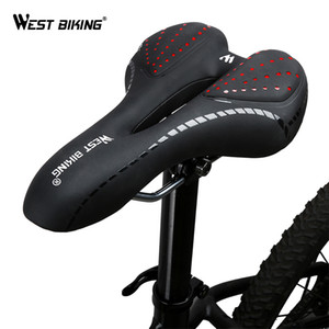 WEST BIKING Bike Saddle Comfortable Cushion MTB Bicycle Accessories Breathable Soft Seat Shockproof Silica Gel PU Cushion