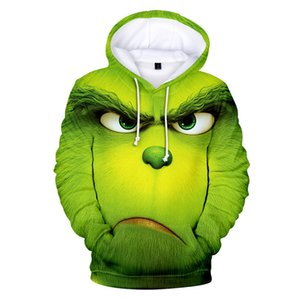 Человек флис фильм фильм Grinch 3D печатные толстовки мужские толстовки унисекс трексуит мода пуловеры уличные 4xl Hoodie