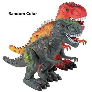 Large Walking Dinosaur Robot With Light Sound Dinosaur Model Toy Electric Toy Tyrannosaurus Battery Operated Kid Children Gift