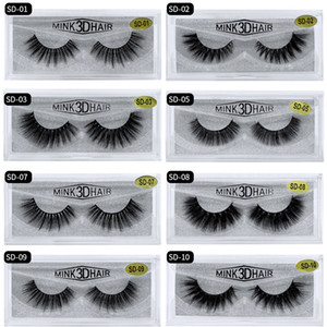 HandMade 3D Faux Mink Lashes 1Pair Eyelashes Luxury Eyelashes Thick Fake Lashes Volume Lashes Extension Reusable False Eyelashes SD18