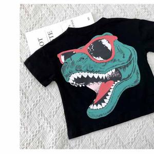 Childrens Designer magliette di estate dei ragazzi delle parti superiori dei ragazzi di moda a maniche corte T-shirt per bambini Dinosaur stampa camice parti superiori casuali 2020 Nuove