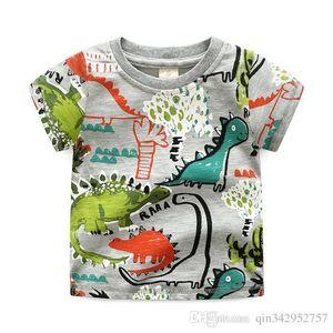 2-10 anni Ragazzi T Shirt Estate cotone maniche corte Carino Dinosaur bambini Camicie Boy Tops Abbigliamento bambini Bambino Abbigliamento casual