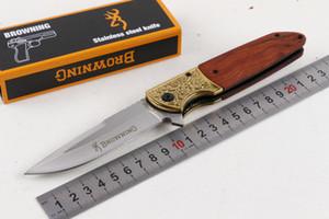 Browning FA40 Складные лезвия Карманные ножи 5CR15MOV Лезвие Деревянная ручка Assisted Tactical Кемпинг Охотничий нож выживания Открытый снаряжение