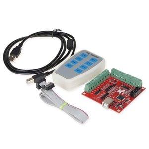 ABSF Cnc Usb 4 asse Mach3 100 Khz Usb Motion Control carta bordo di sblocco di 12-24 V con Jog Handler per incidere di CNC libero-Drive