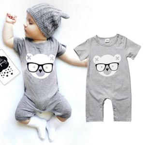 영국 신생아 아기 소녀 곰 Romper 바디 슈트 점프 슈트 복장 0 - 24M