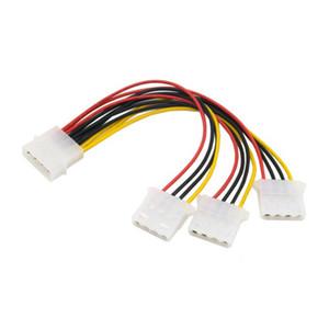 Kablo IDE 4 Pim Erkek Sabit Disk için 3 IDE Kadın Y Tipi Splitter Güç kaynağı Extension Cable 10cm kadar