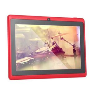 30pcs 7 pouces Tablet PC Tablets PC Q88 Tablettes Android WiFi Allwinner A33 Quad Core 512M 8GB 1024 * 600 HD Dual Caméra 3G 2800MAH Apprentissage des enfants
