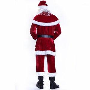 Claus Theme Kostüm Cosplay Paar passender Kleidung Frohe Weihnachten Designer Cosplay Kleidung der Frauen der Männer Mode-Sankt