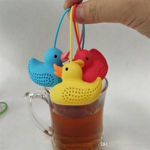 Mini Silicone Duck Chá Infusor New Arrivel Duck Tea Coador Teapot Filtro Solto Chá Folha Ferramentas Herbal Ferramentas