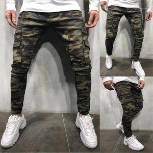 Primavera Outono Calças Pockets Designer Jogger Calças Mens Camouflage Carga Pants Moda Casual