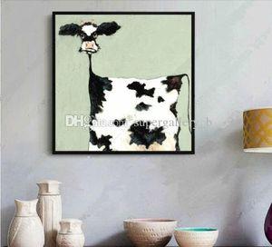 Рука высокого качества Окрашенного Современной Аннотация Поп Cartoon Graffiti Art картина масла коров, домашний декор стены на размере холста можно настроить