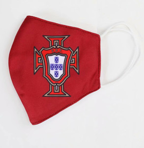 vente réel masque de football Madrid coton flamengo utilisation durable masques jetables remplaçables club équipe de football de gros masque de football Protect