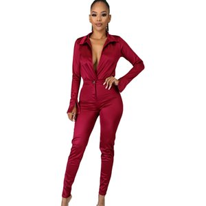 Solid Women Blazer Two Piece Set Casual V Neck Long Sleeve Jampsuit Top Long Pants Suit Office Lady OL Set
