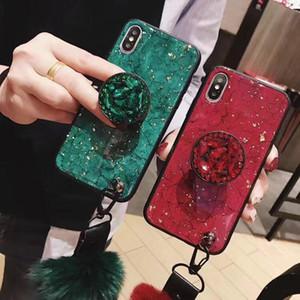 Мраморный Гарин блеск для Iphone xs max tpu крышка Алмаз rhinstone для Iphone xs max case повязка палец кольцо держатель дизайнер телефон case