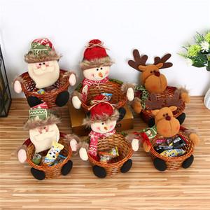 Joyeux Noël Sac enfants Sacs bonbons cadeaux Panier Mini Décoration de Noël Party Accueil Nouvel An Décoration fournitures de vacances