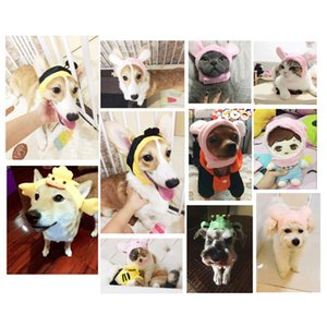 Funny Pet Dog Cat Cap Costume Warm Rabbit Hat Lions Mane Wig New Year Party Cosplay Accessories Photo Props Headwear For Puppy