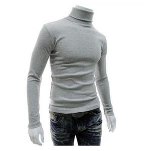 El nuevo diseñador de los hombres suéter masculino Marca Casual punto de los hombres de color sólido cómodo homme tirón de Navidad para hombre del suéter de cuello redondo Slim Fit