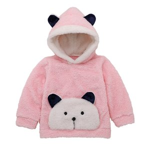 Toddler Baby Boys Winter free shipping clothes pullover animal print cute Sweatshirts long sleeve Fleece Hooded Tops one pieces