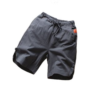 2020 Summer New Cotton and Linen Shorts Men's Beach Pants Solid Color Men Casual Shorts Thin Loose Trousers Men's Clothing