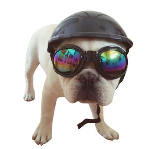 Moto Protect per il gatto del cane bello Biker Hat animali Caschi Sbarazzamento Cap ABS Doggie Costumi Accessori