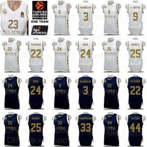 2020 Basket Real Madrid Baloncesto maglie Jaycee Carroll Anthony Randolph Trey Thompkins Mickey Walter Tavares Usman Garuba Shirt Kit
