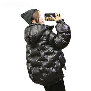 Thick Short Outerwear Women Winter New Irregular Loose Large Size Bread Clothes Street Female Solid Parkas