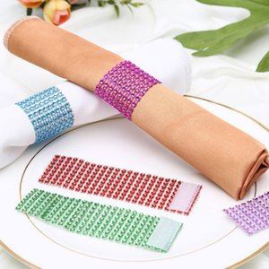 Napkin Ring Chairs Buckles Multicolor Wedding Event Decoration Crafts Rhinestone Bows Holder Handmade Party Supplies (Napkin Rings