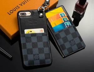 2-piece zipper carteira phone case capa para iphone xs max xr x 7 7 mais 8 8 plus 6 6 plus pode conter 5 cartões