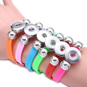 18mm Button Bracelet Noosa Snap Chunks Jewelry Bracelets for Men Girls Fashion Women Charm Silicone Bracelets Wristbands Bangles 11 Colors