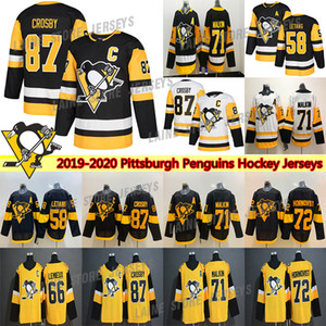 Pittsburgh Penguins Jersey 2019 Stadium Series 87 Sidney Crosby 71 Evgeni Malkin 58 Kris Letang 59 Jake Guentzel Hockey Jerseys