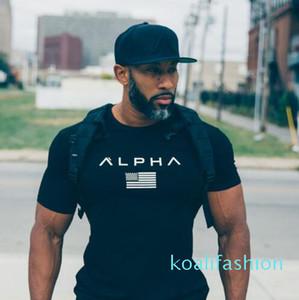 Casual Fitness T-Shirt Men Fashion Casual Shirt Bodybuilding TShirt Gyms Clothing 100% Cotton Tee Plus Size M-XXXL Wulong ky08