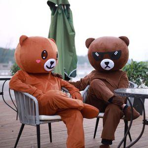 Бурый медведь Кани Кролик талисман костюмы Одежда Пасха Рождество Halloween Party Необычные платья игрушки Аниме куклы