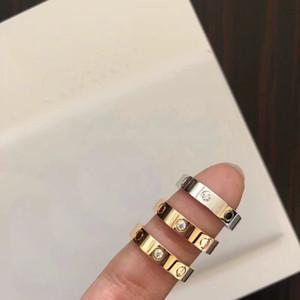 Más alto nivel Clavos de diseñador Destornillador anillos amantes compromiso compromiso joyería de lujo Tamaño para mujeres y hombres en 4 mm y 6 mm con CAJA.