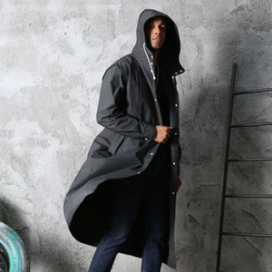 Creative Fashion Unisex Thicken EVA Wearable Raincoat Non-disposable Outdoor Wearable Anti-slip Breathable Long Raincoat DH0896 T03