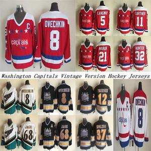 Washington capitals CCM Vintage jerseys 8 OVECHKIN 68 JAGR 32 HUNTER 21 MARUK 5 LANGWAY 11 GARTNER 37 KOLZIG Hockey Jersey